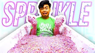 Filling My Bath Tub with Sprinkle Slime!
