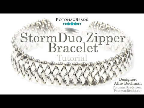 StormDuo Zipper Bracelet (DIY Beading Tutorial)