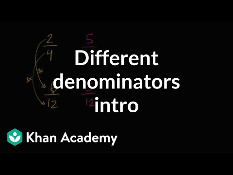 Intro to comparing fractions with different denominators | 4th grade | Khan Academy