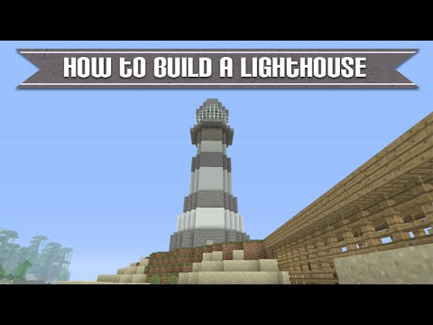 Minecraft Xbox & Playstation: How To Build A Really Cool Lighthouse Simple & Easy Tutorial