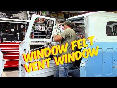 window felt / vent window replacement chevy c10 60-63