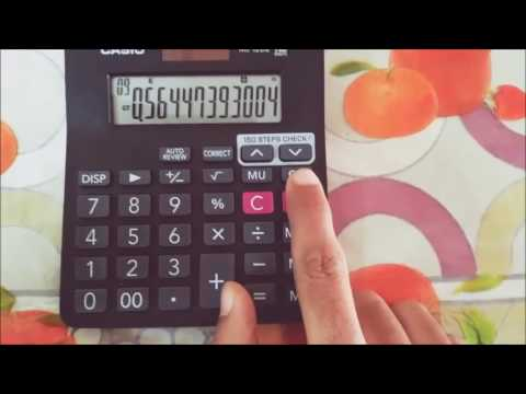 Present value factor, factoring, constant, power tricks Casio basic calculator MJ 120 Da, MJ 12 Da