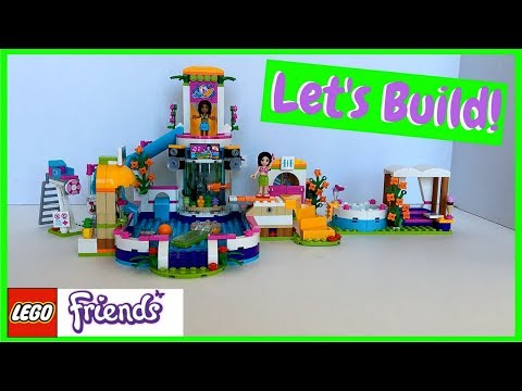 Building Lego Friends Heartlake Summer Pool