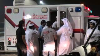 انقلاب موتر من قروب 007 في حلبة قطر للاستعراض (HD)