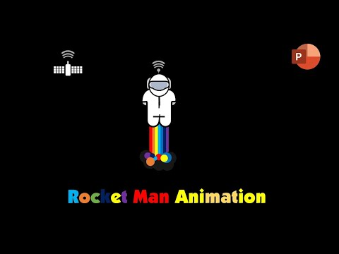 Rainbow Rocket Man | Character Rigging and Motion Graphics in PowerPoint 2016 Tutorial