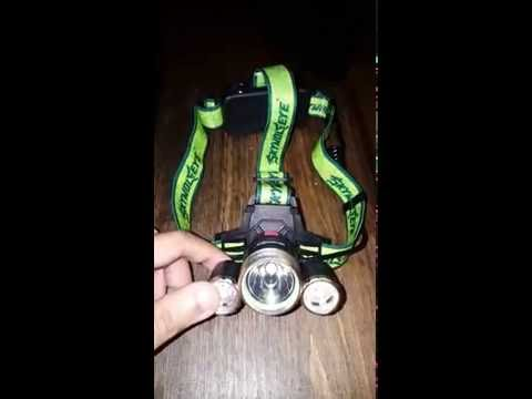 Skywolfeye  f526 cree say 10000 lumens I say 2000 3x xml t6 head lamp light.