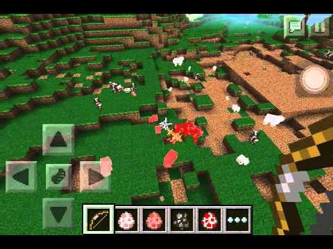 Huge TNT blowing up. Minecraft PE
