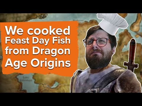 We cooked Feast Day Fish from Dragon Age Origins