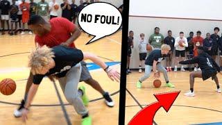 Trash Talker Shoved Me Then Gets EXPOSED! 5v5 Basketball!