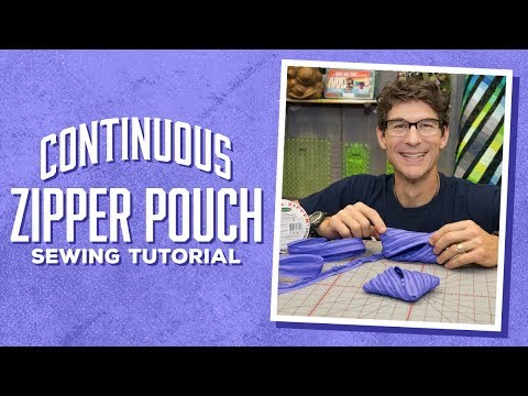 Make an Easy Continuous Zipper Pouch with Rob!