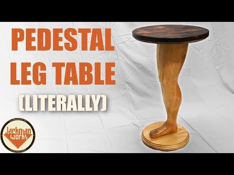 Making a Wood Pedestal Leg Table (literally)