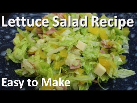 Lettuce Salad Recipe Easy to Make - Pineapple and Lettuce Salad