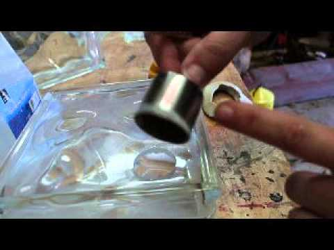 Glass block cutting hole, frosting by sanding and adding vinyl Jen Blausey