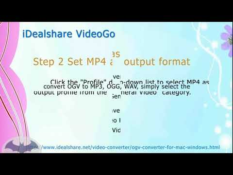 Convert OGV to MP4, AVI, MOV, WMV, 3GP on Mac or Windows new new