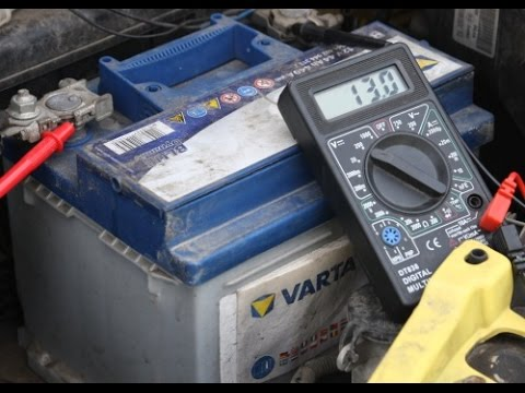 How to test the battery and alternator with a digital multimeter