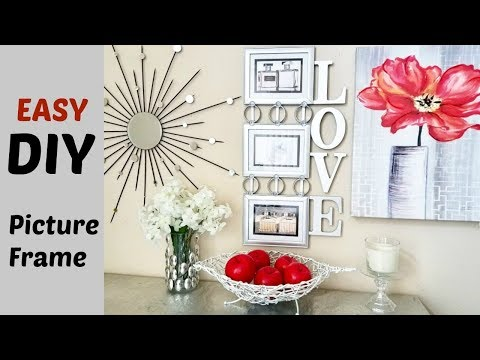 Quick and Easy Cheap Diy Wall Art Picture Frame.