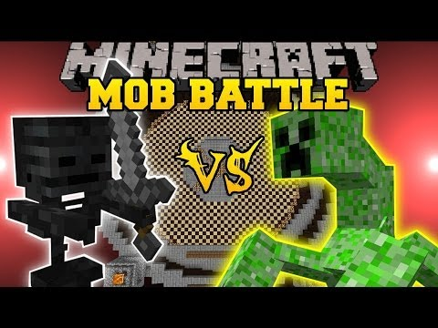 WITHER SKELETON VS MUTANT CREEPER - Minecraft Mob Battles - Vs Mobs Mod and Mutant Creeper Mod