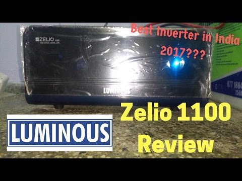 Luminous Zelio 1100 Review - Luminous Zelio 1100 Sine Wave Home Ups Inverter+Battery Review in Hindi