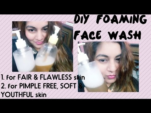 DIY Skin Lightening FACE WASH at home in Rs.30 | Homemade NATURAL Face Wash for FLAWLESS FAIR skin