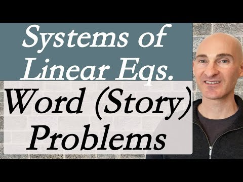 Systems of Linear Equations (Word Problems)