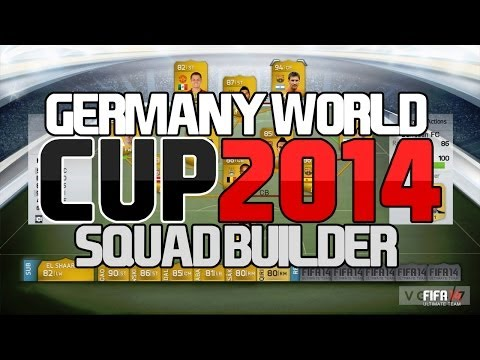 GERMANY WORLD CUP 2014 SQUAD BUILDER -FIFA 14 ULTIMATE TEAM