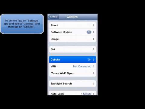 HOW TO ENABLE OR DISABLE DATA ROAMING IN IOS 6