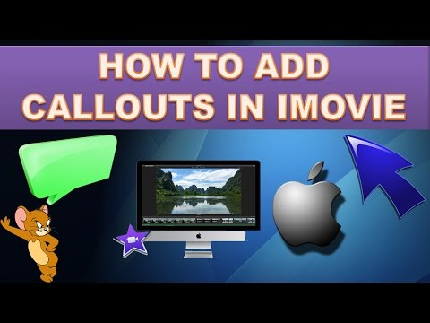 How to add arrows or Pointers on imovie?
