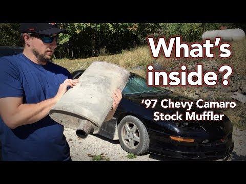 What's inside a stock Chevy Camaro muffler? - Cutting open Camaro muffler - How a muffler works