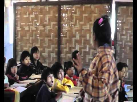 Burma math lesson, very noisy!