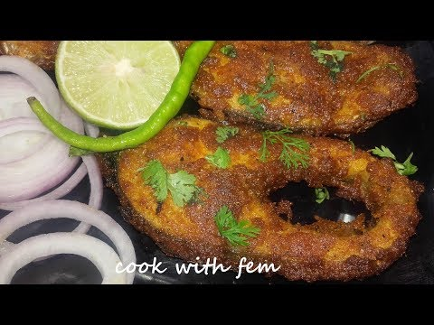 Crispy Fish Fry Recipe || Delicious & Easy Rohu Fish Fry || South Indian Style Fish Fry By Fem Khan