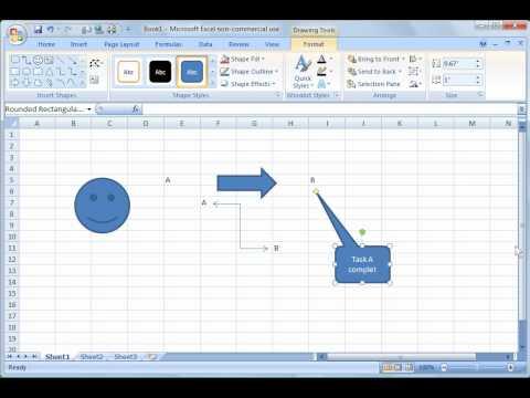 Excel 2007 Tutorial 19: Drawing