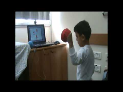 Timocco therapy session - child with hemiplegic CP