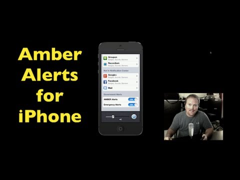iPhone Amber Alert ~ How To Turn On Or Off