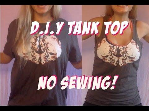 DIY Tank Top - No Sewing !