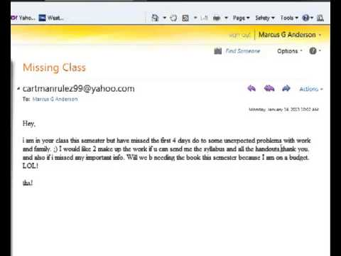 Bad Email Reply - What not to say to your professor...