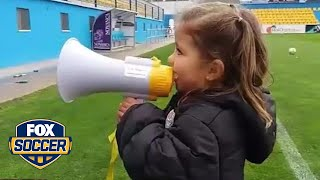 This little girl is the most adorable supporter ever