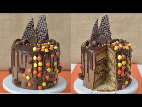REESE'S PEANUT BUTTER CHOCOLATE DRIPPY CAKE, HANIELA'S