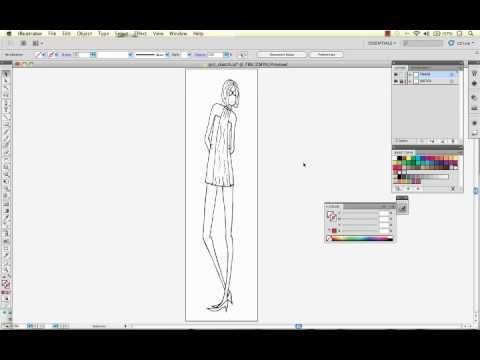 Convert A Hand Drawn Fashion Sketch to Vector With Illustrator Live Trace