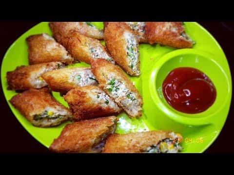 Bread Curd Fire Rolls Recipe | Dahi Sholey | दही के शोले | Crispy Bread Curd and Paneer Fried Rolls