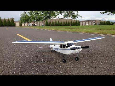 Hobbyzone Super Cub LP RTF Windy Day Flight and Crash - Hobbyzone Super Cub Trainer Plane