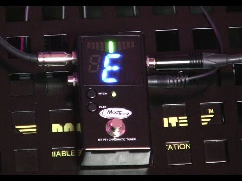 How to Tune a 12 String Guitar!  ModTone Mayhem : MT-PT1 Chromatic Tuner PEDAL ~ Video #2