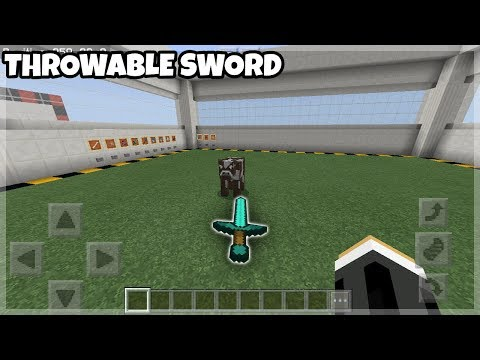 Mcpe Command Block: Throwable Sword Tutorial