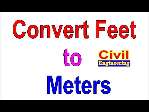 Feet to meters converter in Autocad