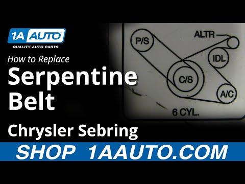 How To Install replace Power Steering Belt 2.7L Chrysler Sebring