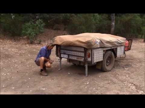 PMX Camper Trailer soft floor tent setup