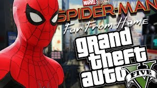 Download SPIDER-MAN FAR FROM HOME MOD (GTA 5 PC Mods Gameplay) Video