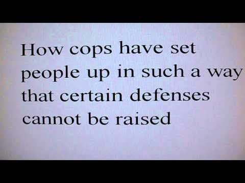 How cops & snitches set people up and the beginning of educating the masses