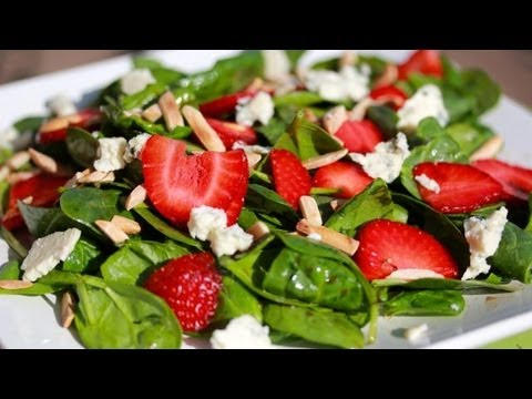 Clean Eating Spinach Strawberry Salad