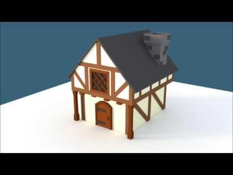 Lowpoly Timelapse | Medieval House |