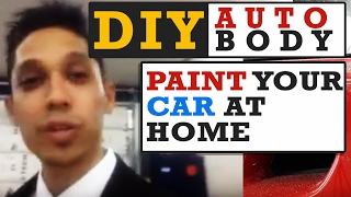 You CAN Paint Your Car At Home - DIY Auto Body Mastery With Tony Bandalos